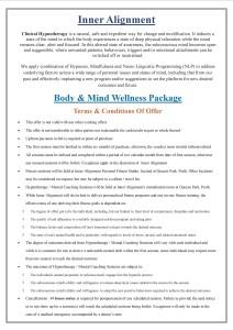 Wellness package -Nov 15 T&C